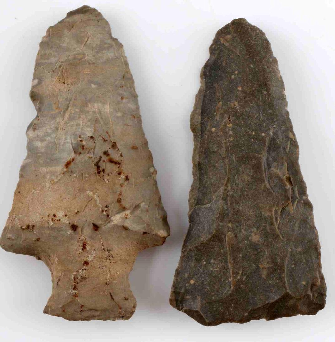 LOT OF 16 ARROWHEAD POINTS SOME STEMMED 2-3 INCH - 3