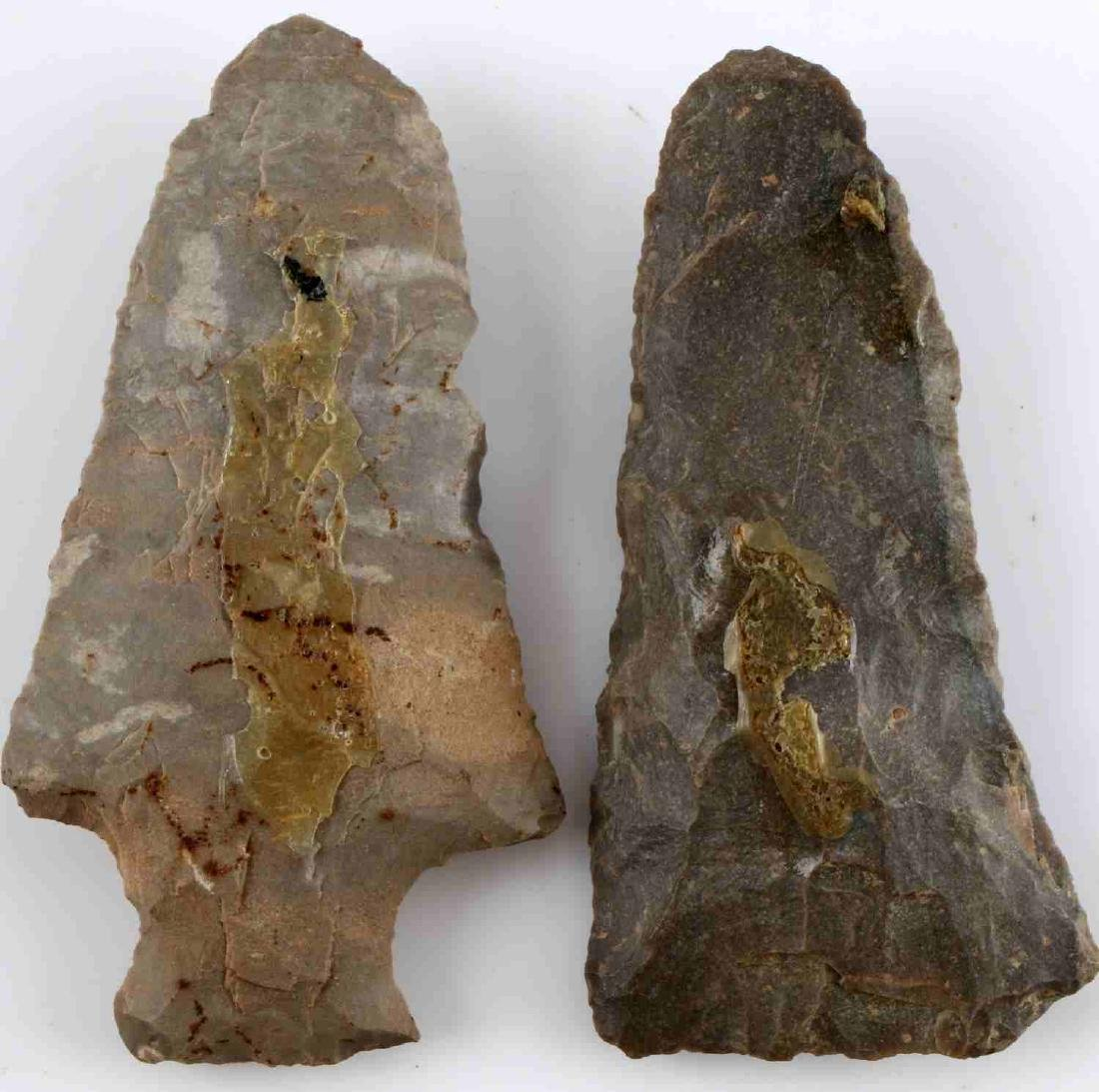 LOT OF 16 ARROWHEAD POINTS SOME STEMMED 2-3 INCH - 4
