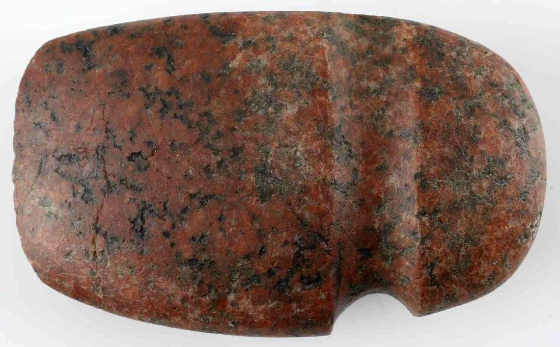 NATIVE AMERICAN GROOVED STONE AXE BRANCH MICHIGAN - 2
