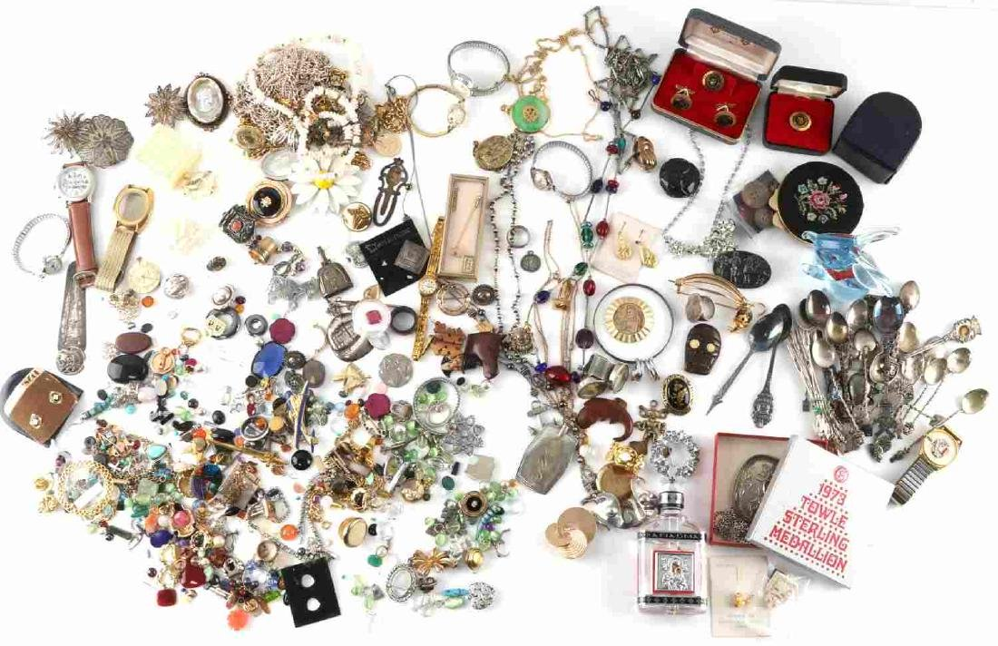 7 POUND LOT COSTUME JEWELRY STERLING SILVER SIGNED
