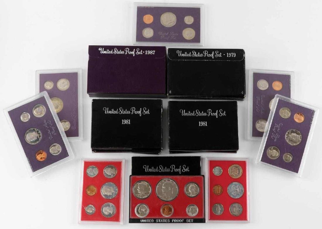 UNITED STATES PROOF SET COINS 1976 TO 1989 23 SETS