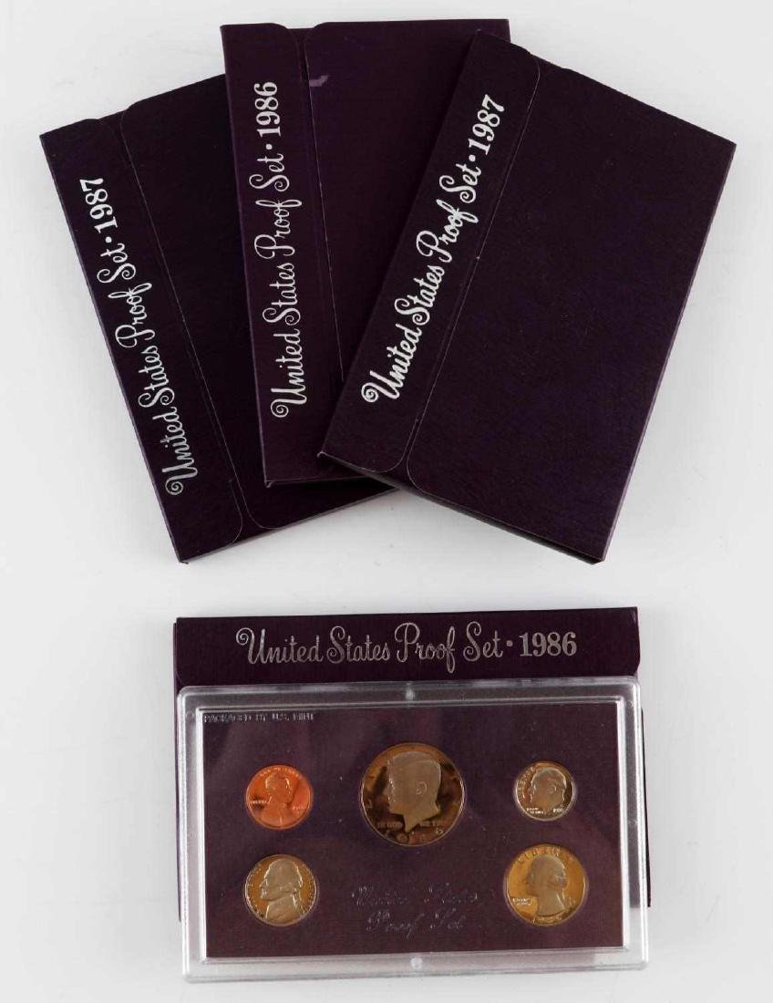UNITED STATES PROOF SET COINS 1976 TO 1989 23 SETS - 4