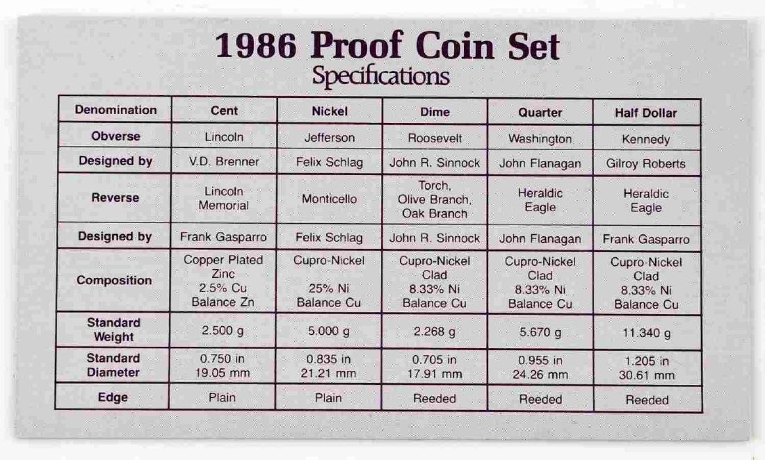 UNITED STATES PROOF SET COINS 1976 TO 1989 23 SETS - 5