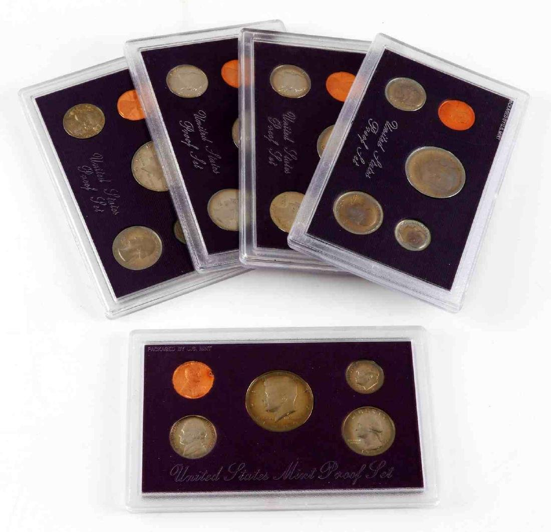 UNITED STATES PROOF SET COINS 1976 TO 1989 23 SETS - 6