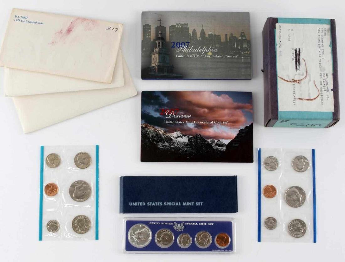 US SMS UNCIRCULATED COIN SETS UNOPENED PROOF BOX