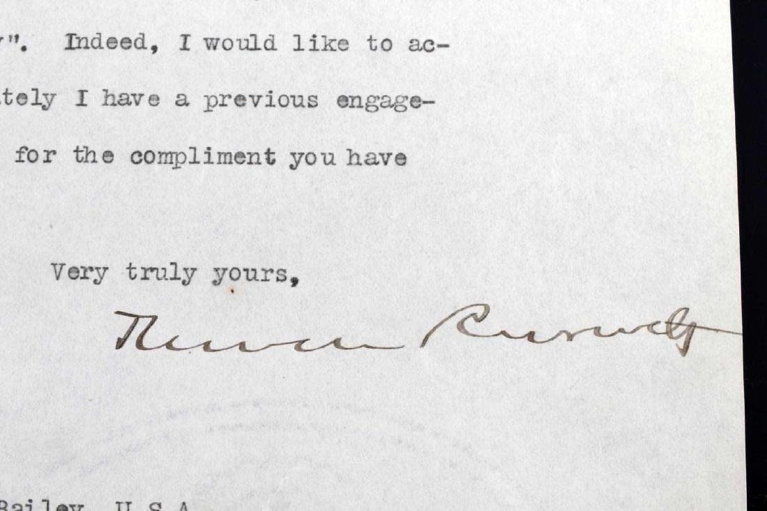 TYPED AND SIGNED THEODORE ROOSEVELT JR LETTER - 2