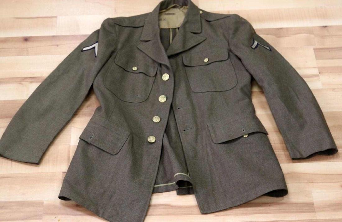 GENERAL LOT OF WWII UNIFORMS JACKET OVERCOAT - 4