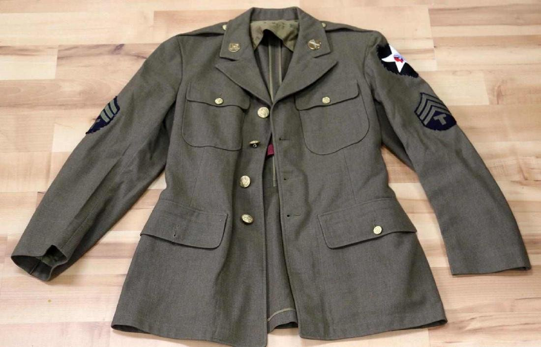 GENERAL LOT OF WWII UNIFORMS JACKET OVERCOAT - 6