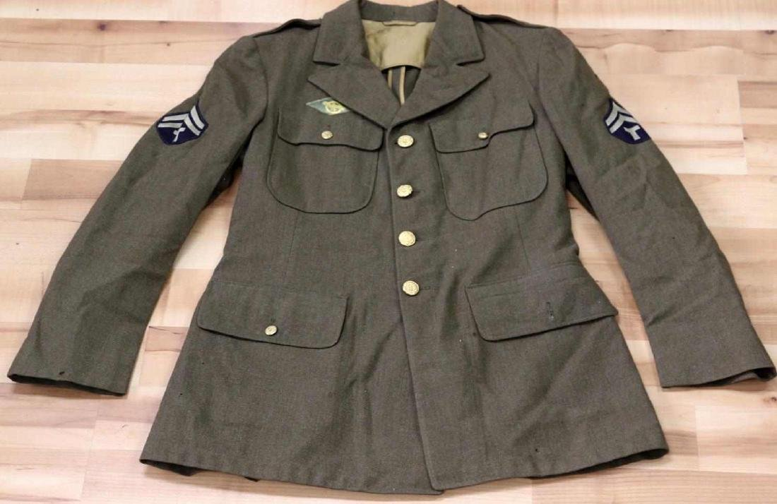 GENERAL LOT OF WWII UNIFORMS JACKET OVERCOAT - 8