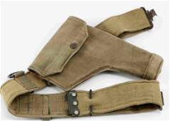 WWII US AMERICAN WEB BELT AND HOLSTER