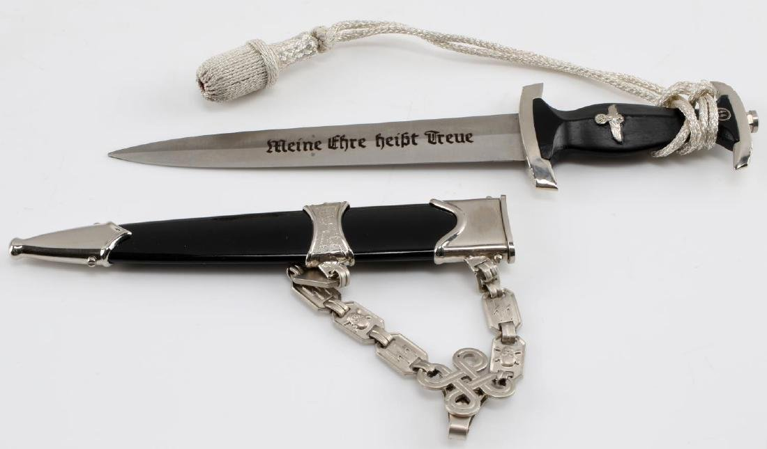 WWII GERMAN 3RD REICH MINIATURE SS OFFICER DAGGER - 2