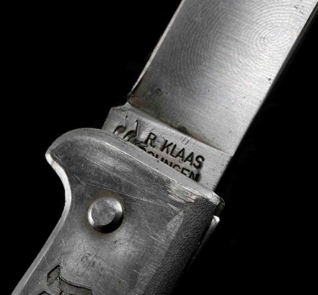 WWII GERMAN THIRD REICH SS ETCHED POCKET KNIFE - 8