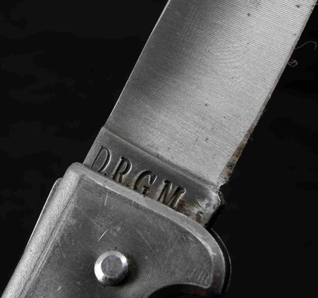 WWII GERMAN THIRD REICH SS ETCHED POCKET KNIFE - 9