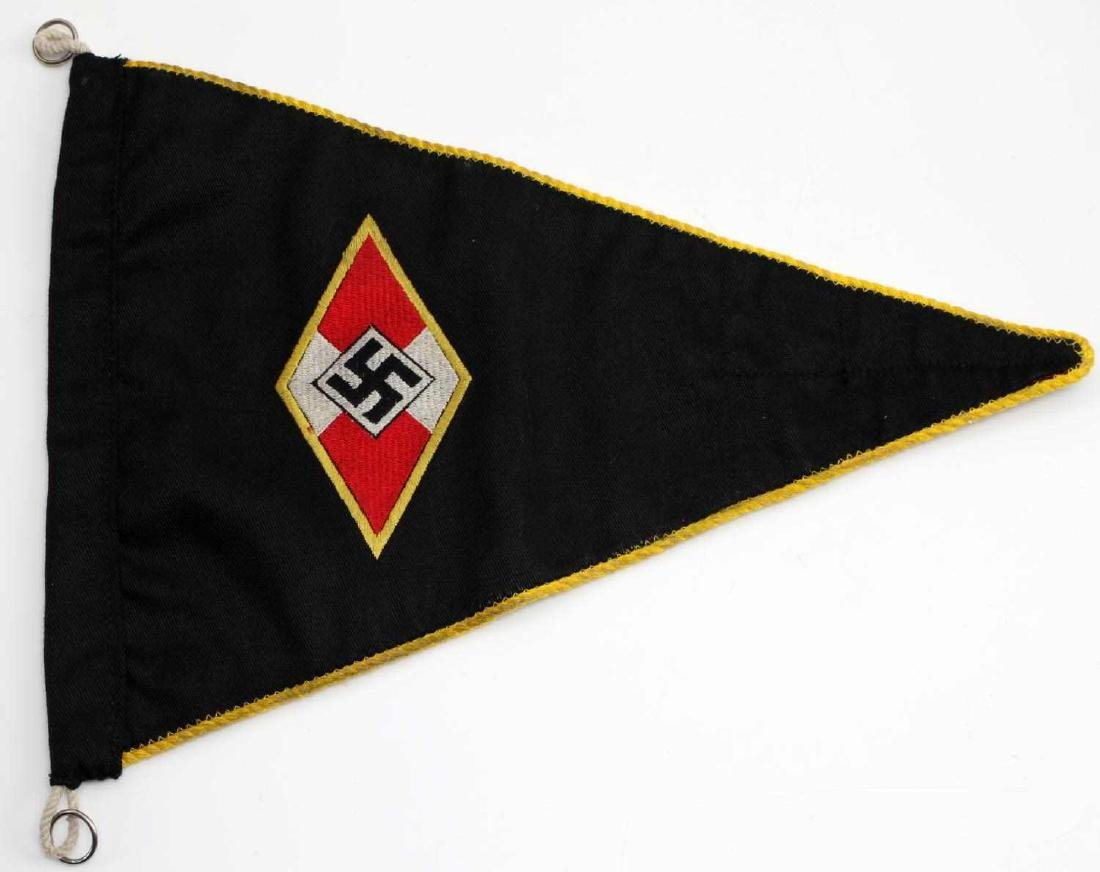 WWII GERMAN THIRD REICH HITLER YOUTH PENNANT FLAG