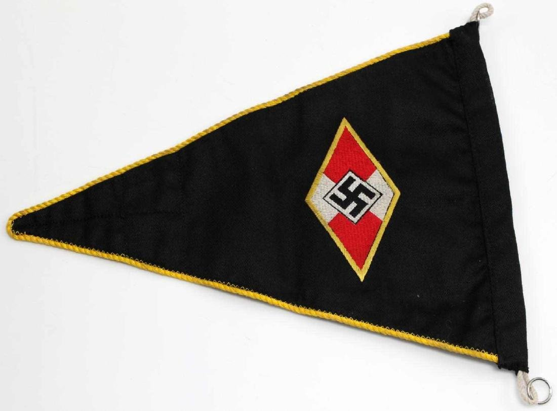 WWII GERMAN THIRD REICH HITLER YOUTH PENNANT FLAG - 2