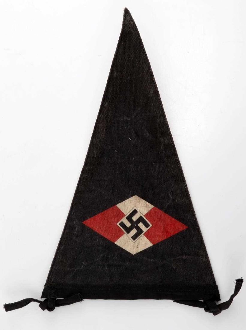 WWII GERMAN HITLER YOUTH DEUTSCHE ARBEITER PENNANT - 3