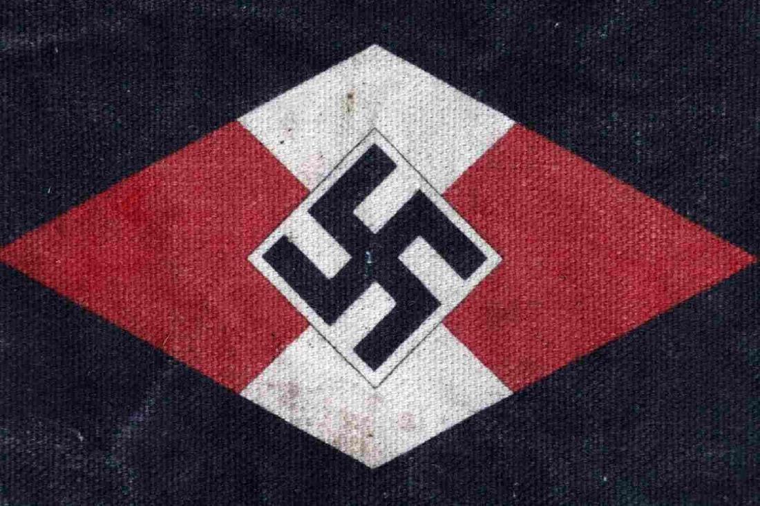 WWII GERMAN HITLER YOUTH DEUTSCHE ARBEITER PENNANT - 4