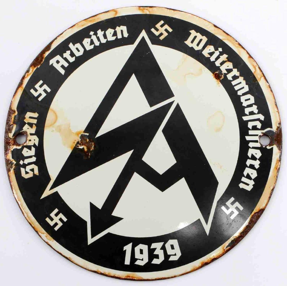 WWII GERMAN THIRD REICH SA PROPAGANDA SIGN