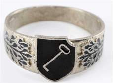 WWII GERMAN THIRD REICH WAFFEN SS LAH MEMBER RING