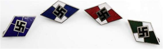 GERMAN WWII THIRD REICH HITLER YOUTH LAPEL PIN LOT