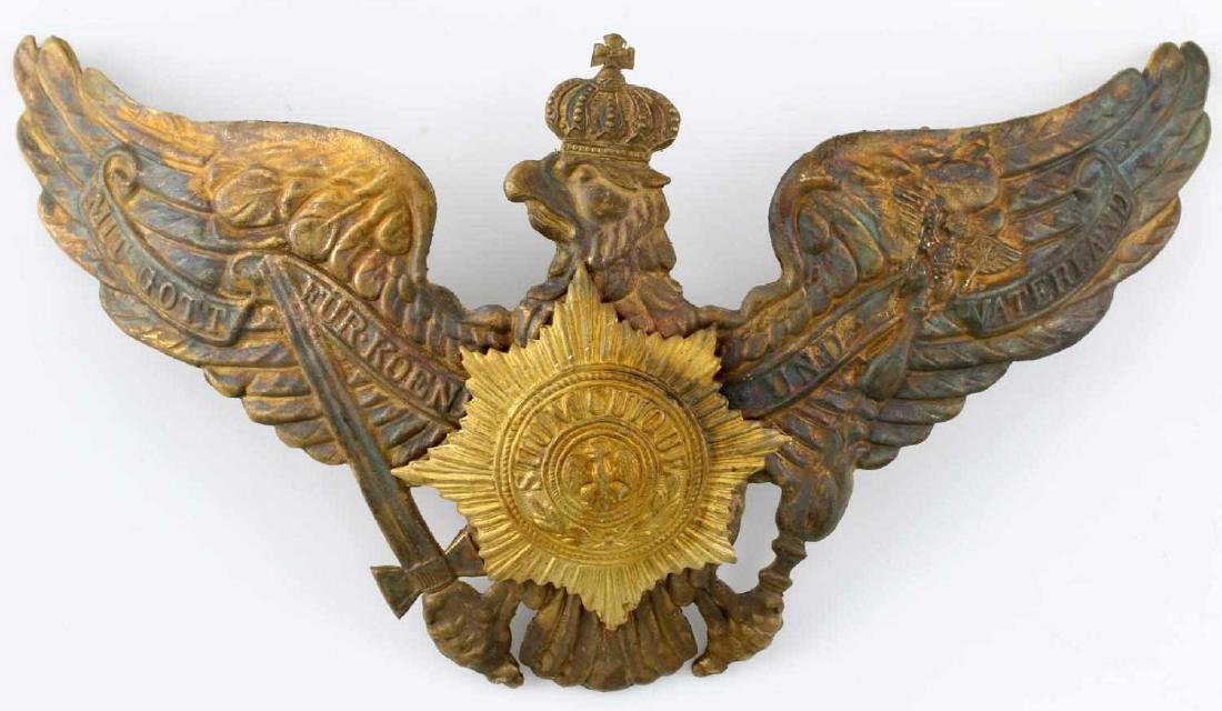 IMPERIAL GERMAN SPIKE HELMET EAGLE FRONT PLATE