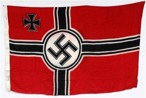 GERMAN WWII THIRD REICH NAVAL COMBAT BATTLE FLAG