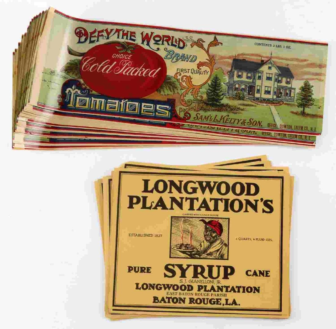 LONGWOODS PLANTATION SYRUP DEFY THE WORLD LABELS