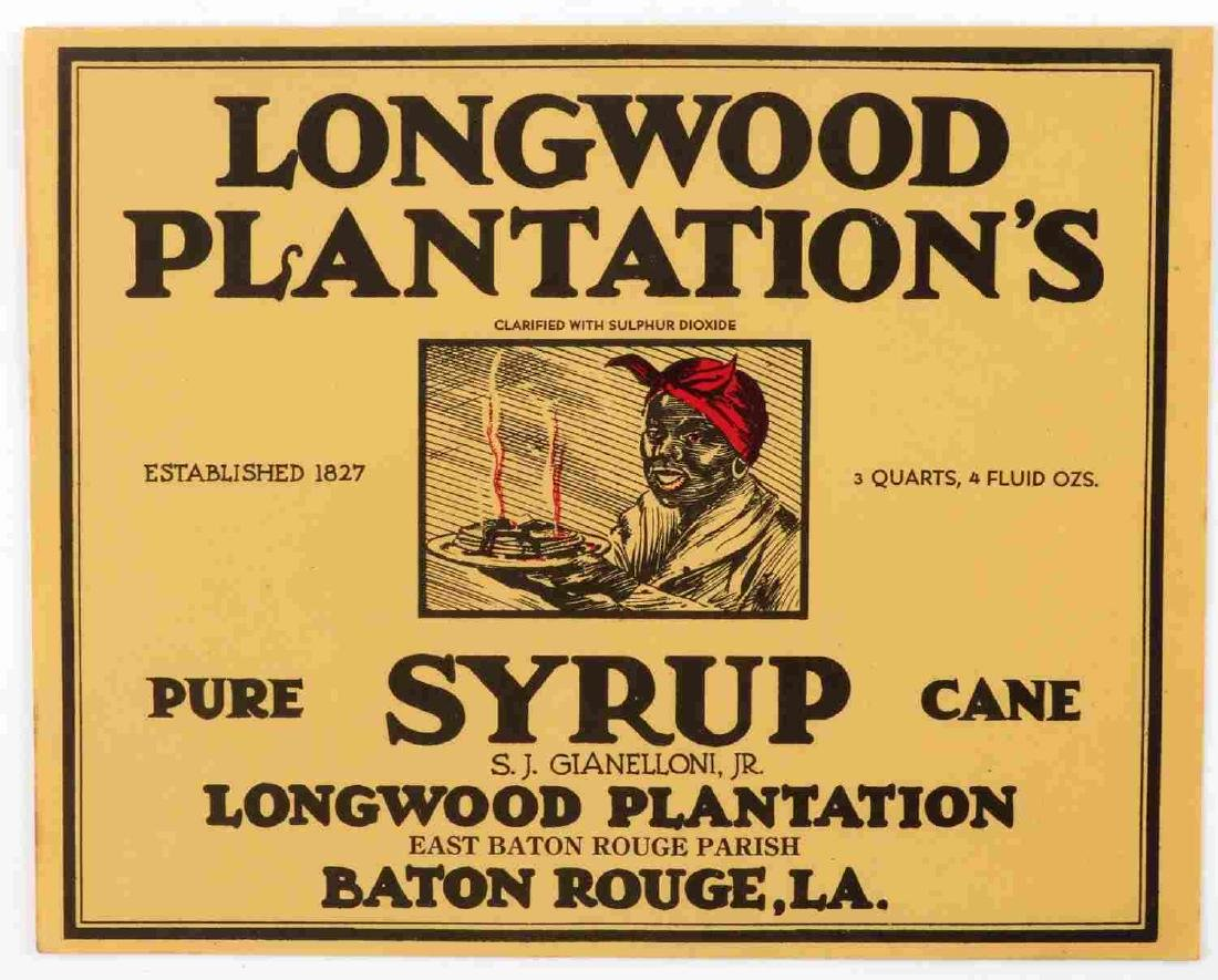 LONGWOODS PLANTATION SYRUP DEFY THE WORLD LABELS - 2