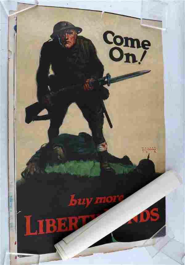 LOT WWI ORIGINAL PROPAGANDA & WAR SAVINGS POSTERS