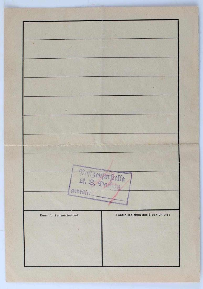FRENCH POLITICAL PRISONER DEATH CARD DACHAU - 4