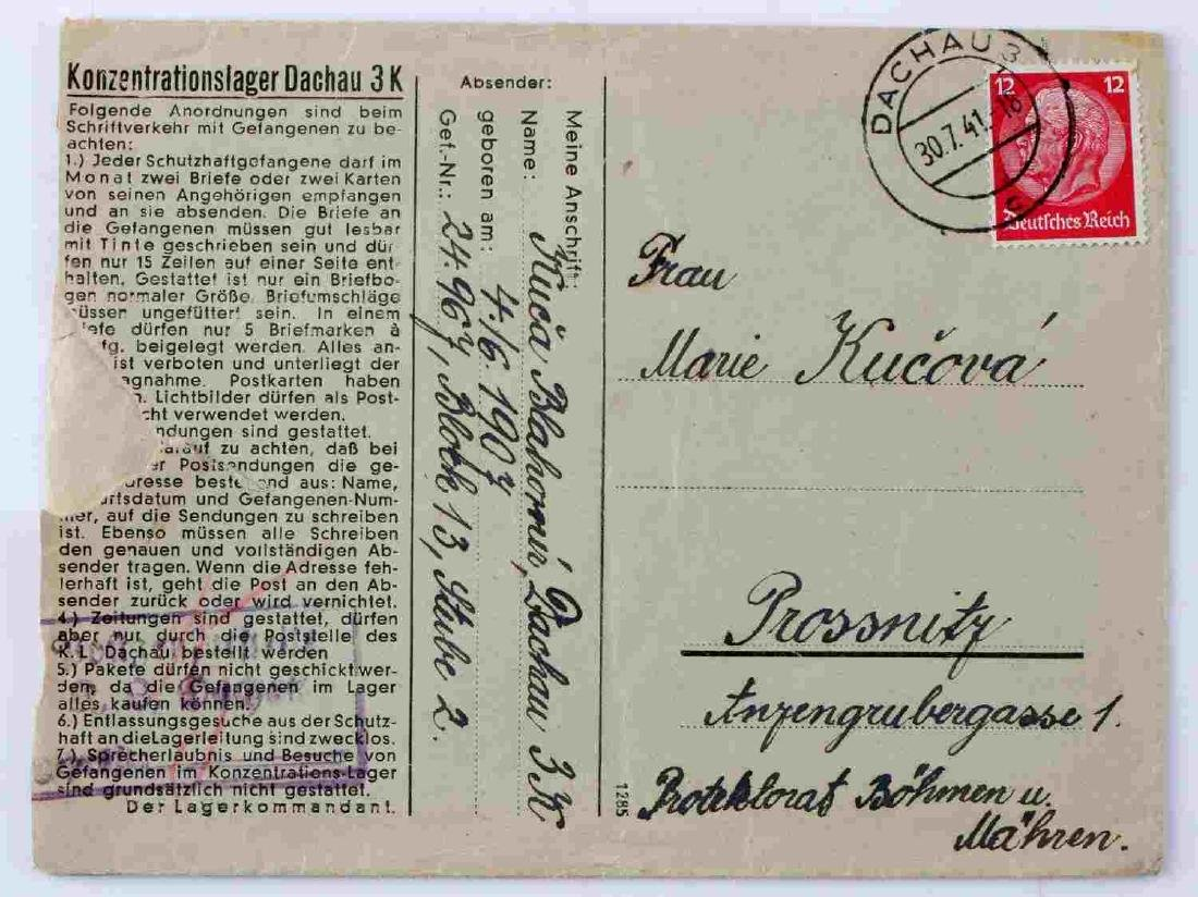 FRENCH POLITICAL PRISONER DEATH CARD DACHAU - 5