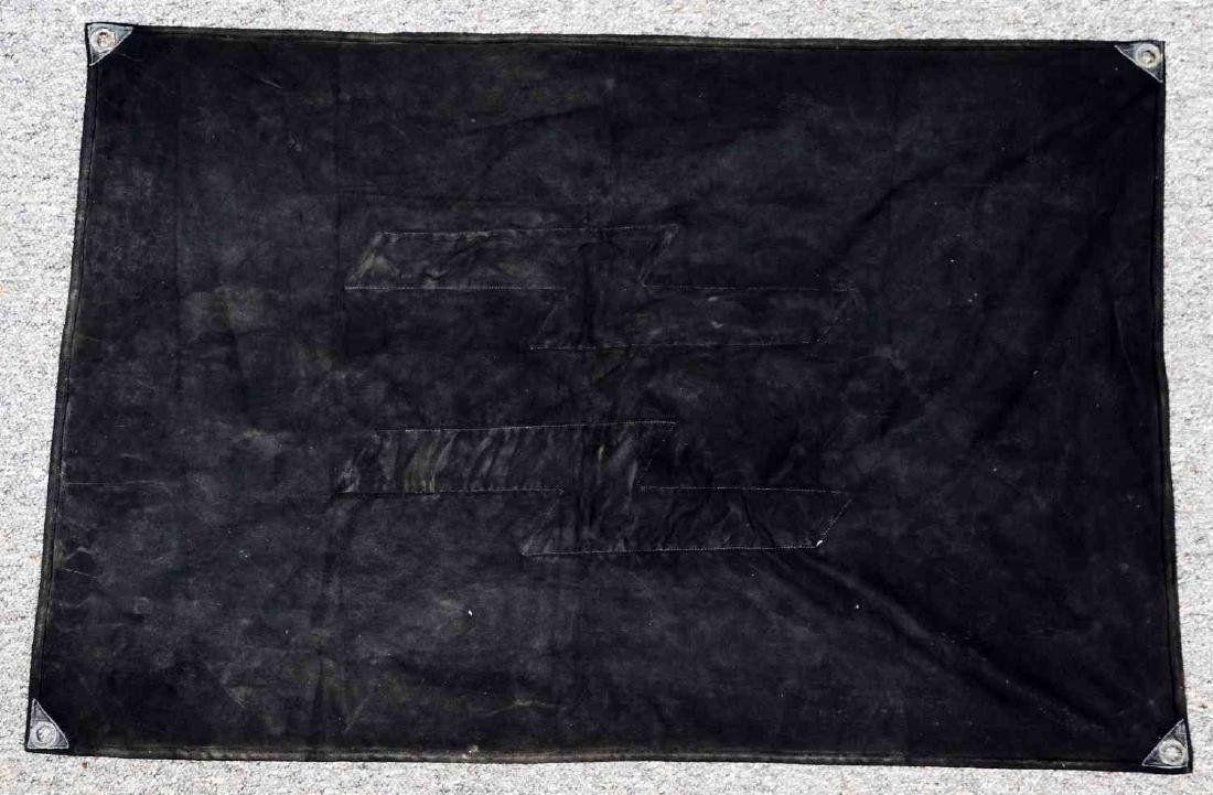 WWII GERMAN WAFFEN SS MILITARY VEHICLE ID FLAG - 3