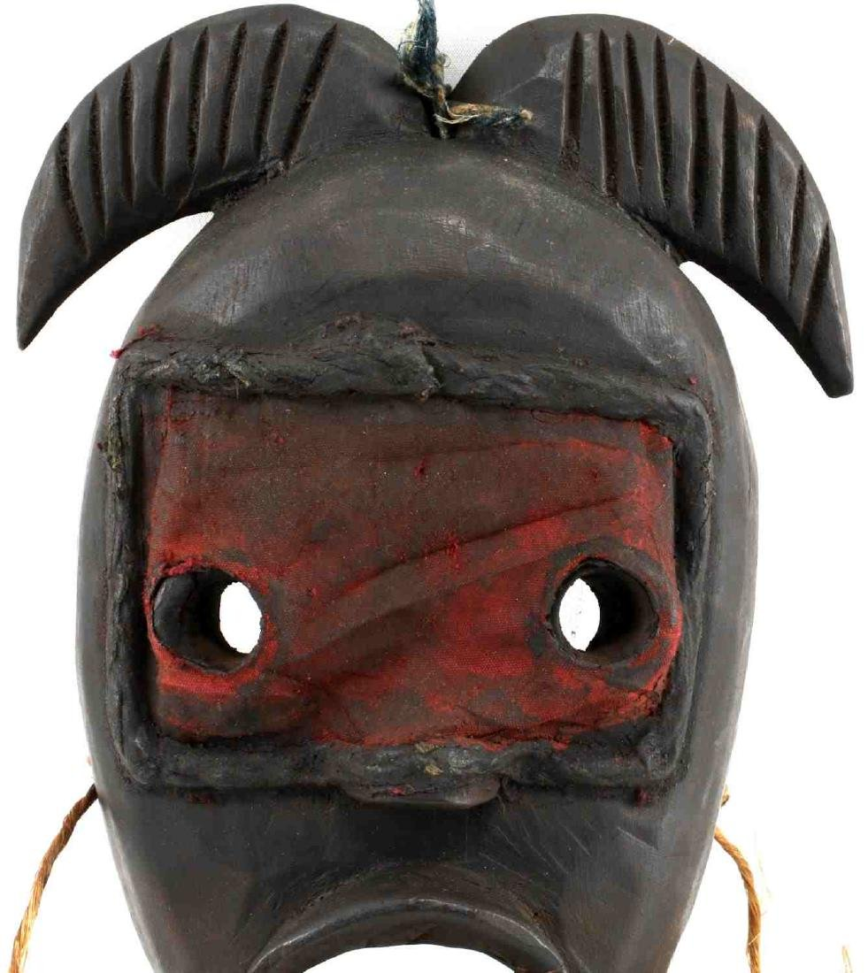 AFRICAN DAN CARVED WOODEN MASK LIBERIA - 2