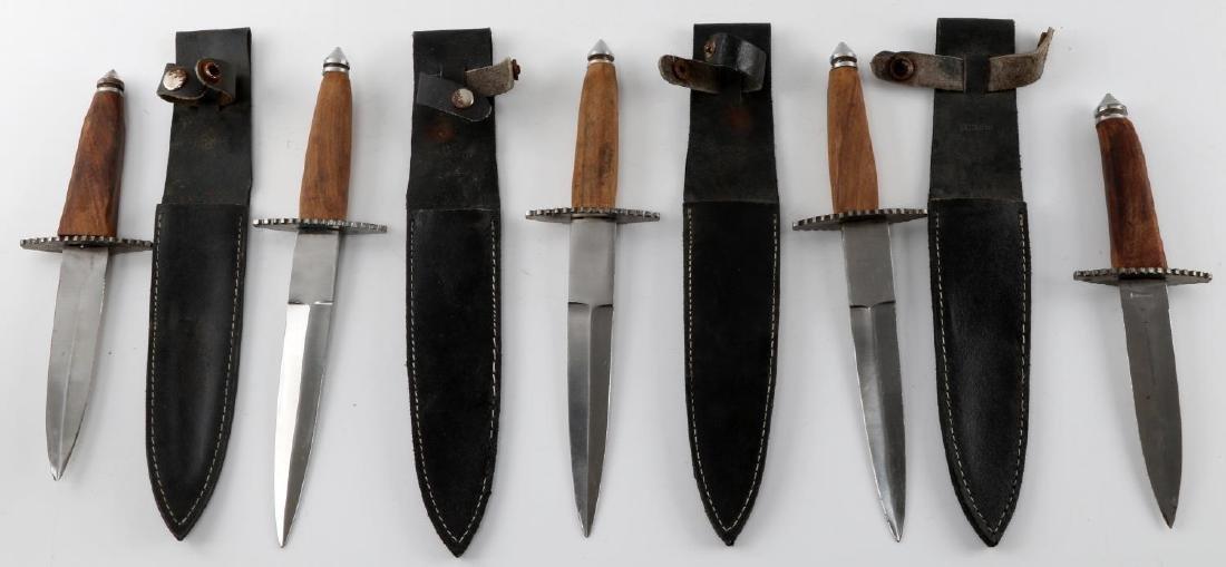 LOT OF 5 PAKISTANI DAGGERS WITH 4 LEATHER SHEATHS