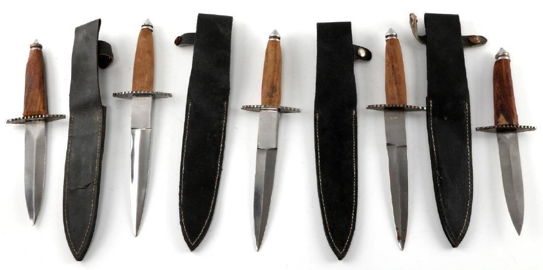 LOT OF 5 PAKISTANI DAGGERS WITH 4 LEATHER SHEATHS - 2