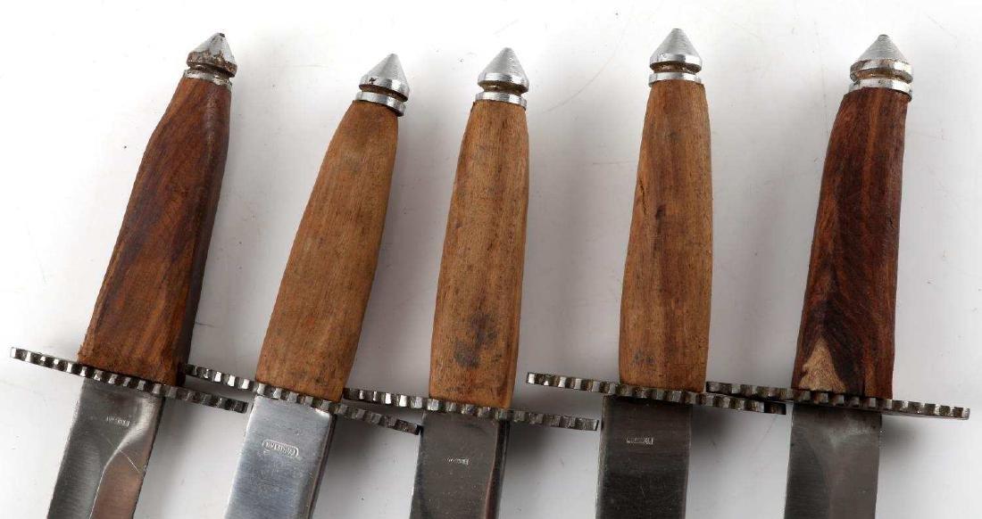 LOT OF 5 PAKISTANI DAGGERS WITH 4 LEATHER SHEATHS - 3