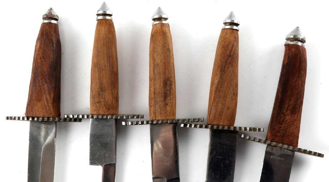 LOT OF 5 PAKISTANI DAGGERS WITH 4 LEATHER SHEATHS - 4