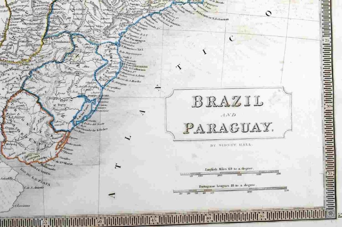 ANTIQUE SIDNEY HALL SOUTH AMERICA MAP LOT OF TWO - 6