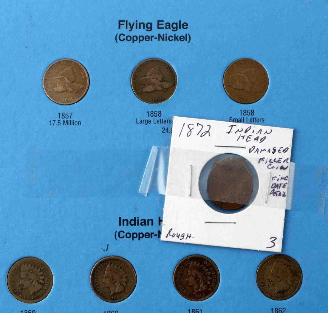 WHITMAN INDIAN HEAD CENT 1857 1909 NEAR COMPLETE - 2
