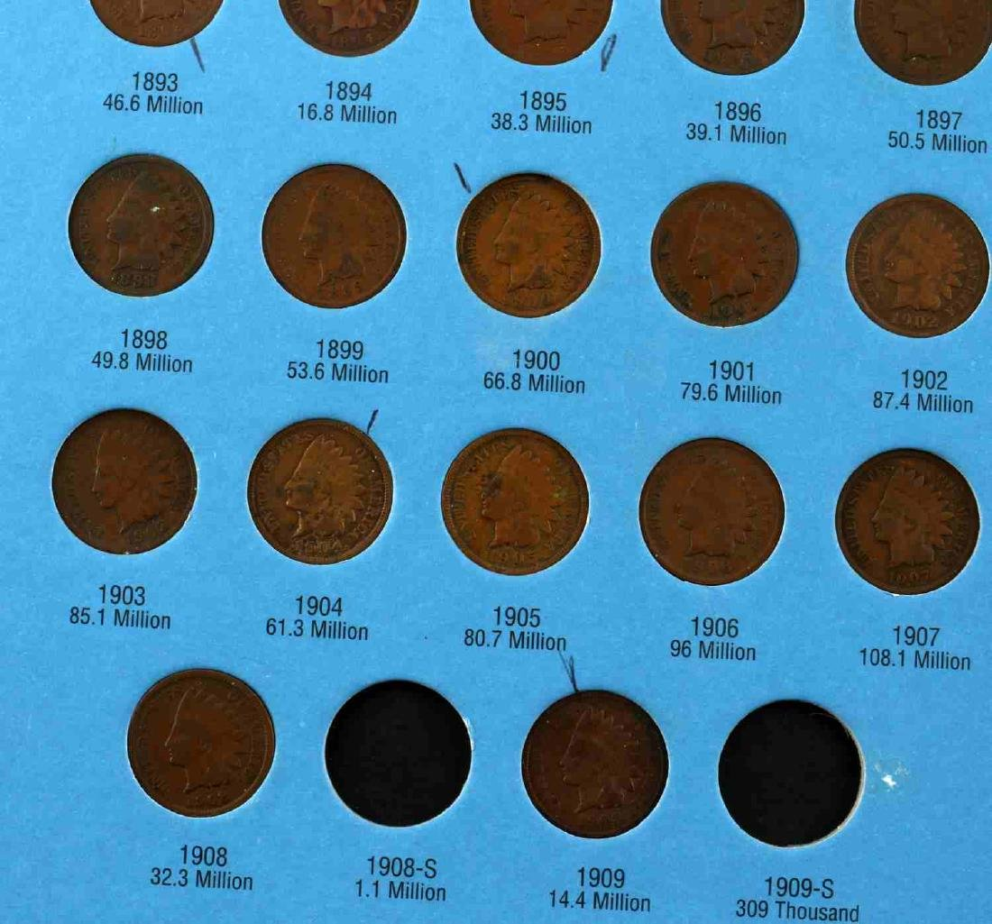 WHITMAN INDIAN HEAD CENT 1857 1909 NEAR COMPLETE - 3