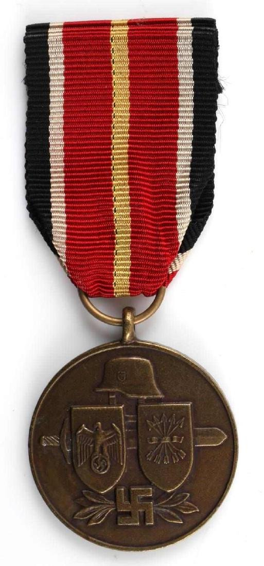 WWII GERMAN SPANISH BLUE DIVISION MEDAL W RIBBON