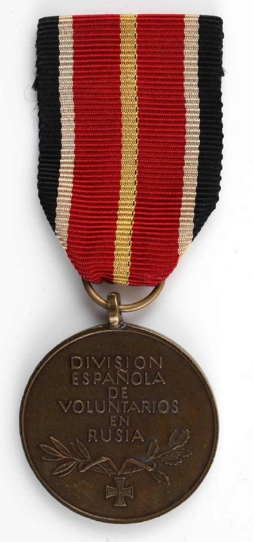 WWII GERMAN SPANISH BLUE DIVISION MEDAL W RIBBON - 2