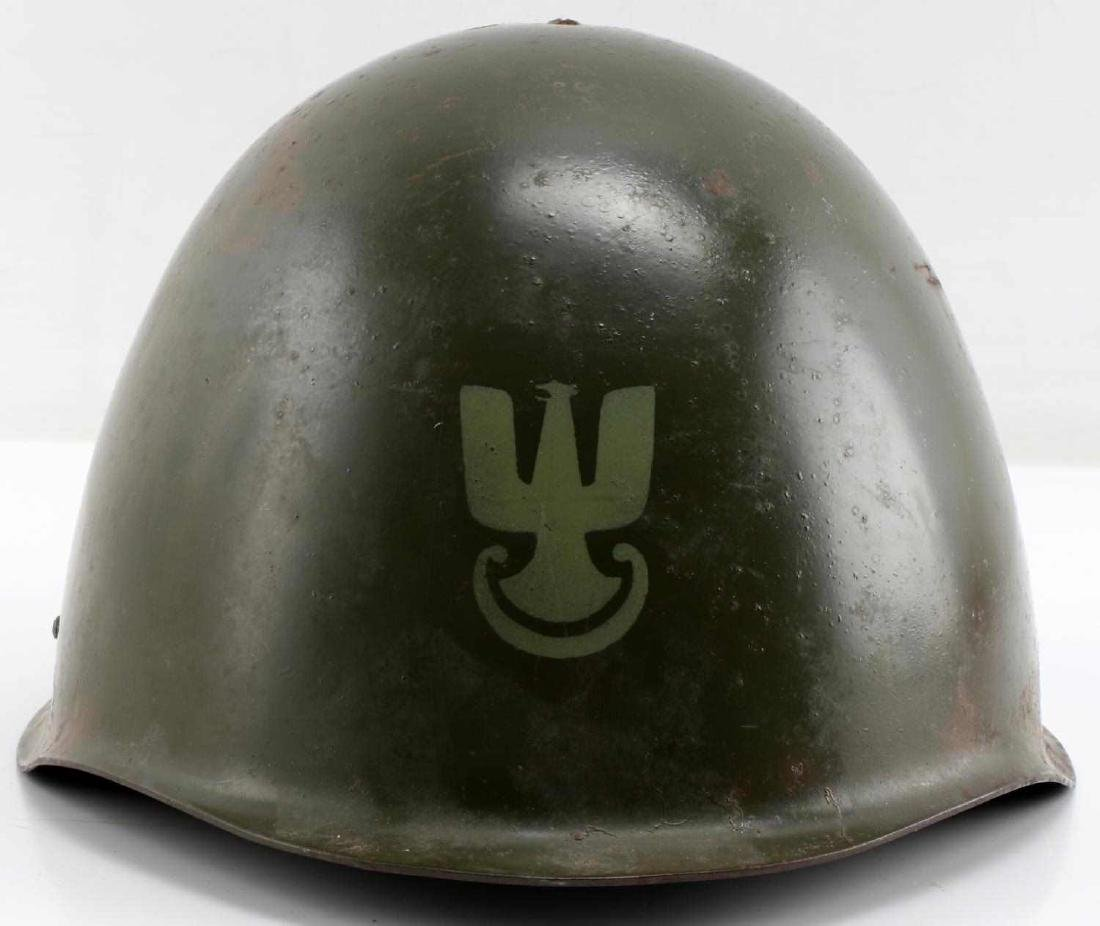 SIZED 55 POLISH POST-1970 ARMY ISSUE MARKED HELMET