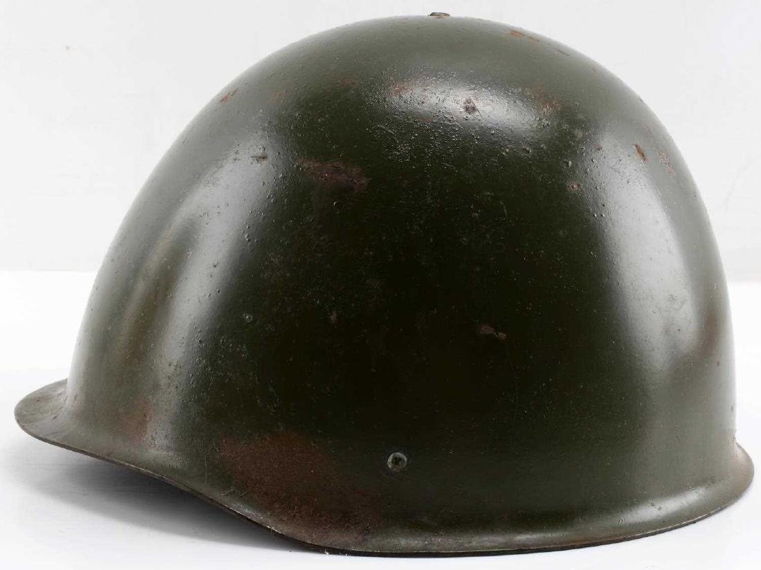 SIZED 55 POLISH POST-1970 ARMY ISSUE MARKED HELMET - 2