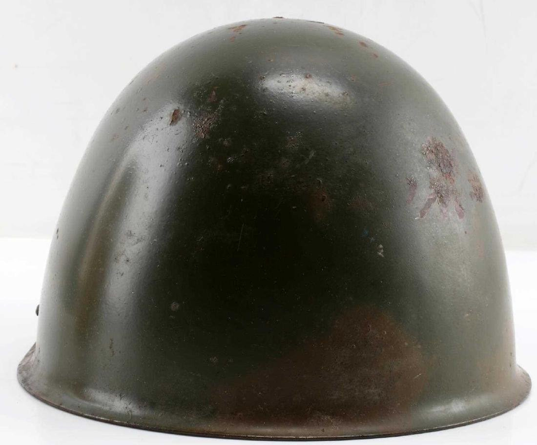 SIZED 55 POLISH POST-1970 ARMY ISSUE MARKED HELMET - 3