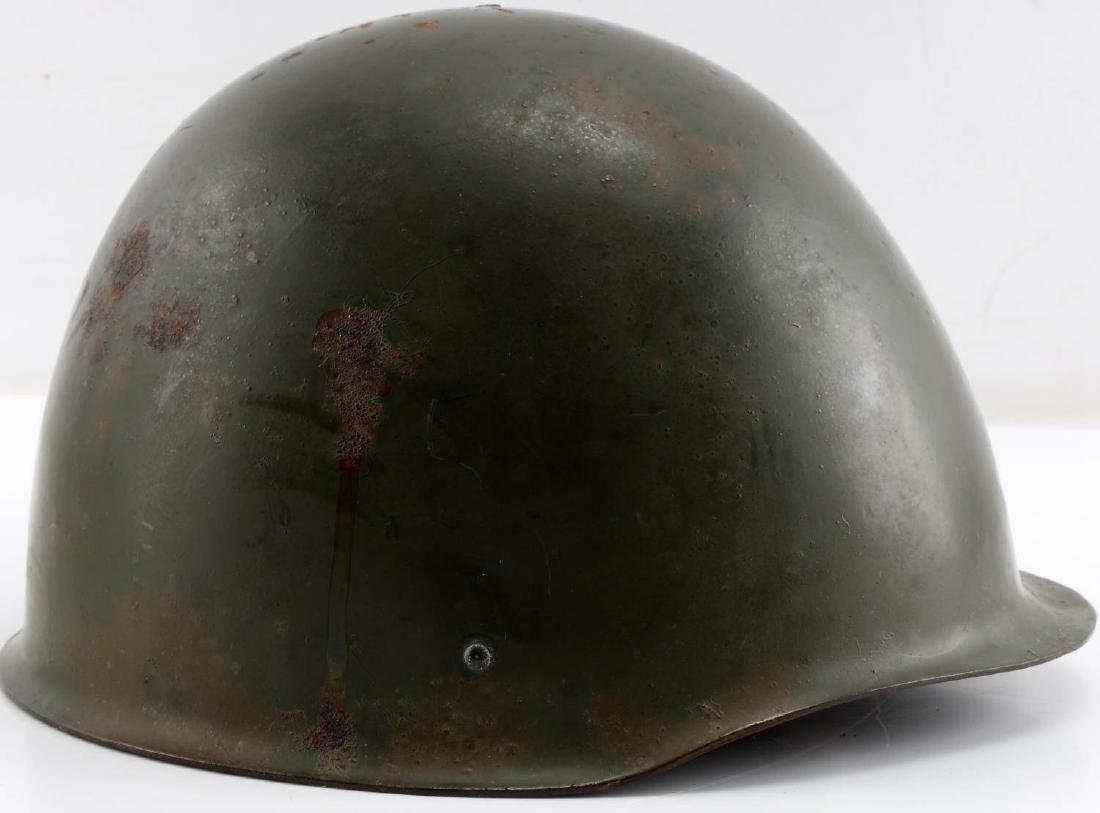 SIZED 55 POLISH POST-1970 ARMY ISSUE MARKED HELMET - 4