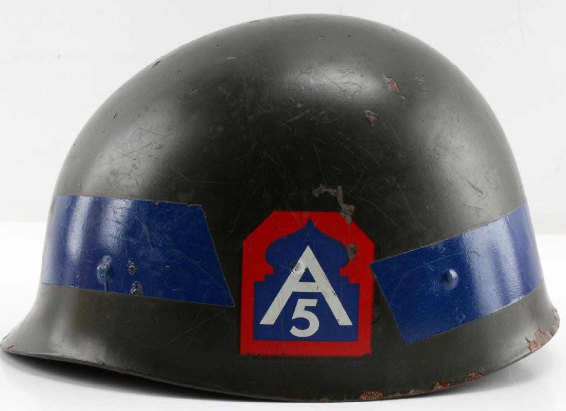 A5 DECORATED WWI DOUGHBOY HELMET SHELL DEFENSE - 2
