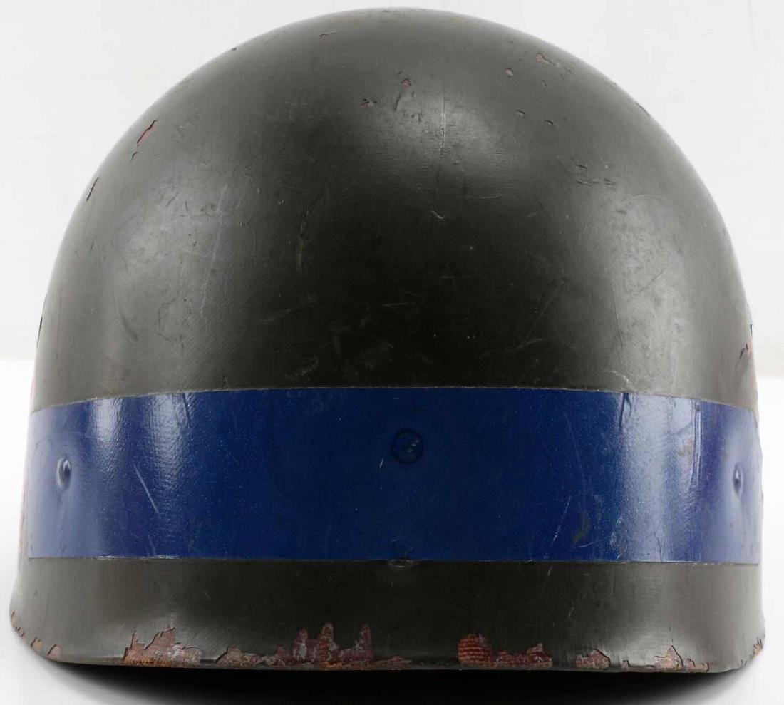 A5 DECORATED WWI DOUGHBOY HELMET SHELL DEFENSE - 3
