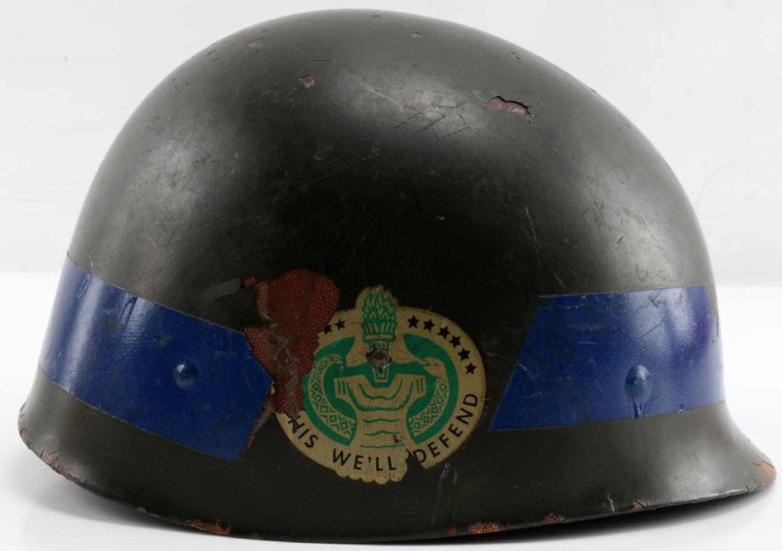 A5 DECORATED WWI DOUGHBOY HELMET SHELL DEFENSE - 4