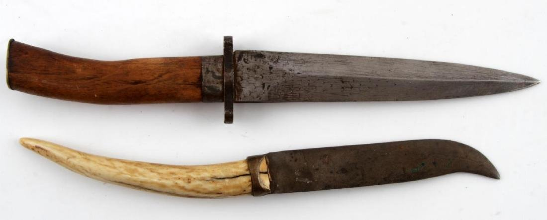 LOT OF 8 WWII & EARLIER COMBAT FIGHTING KNIFE LOT - 3